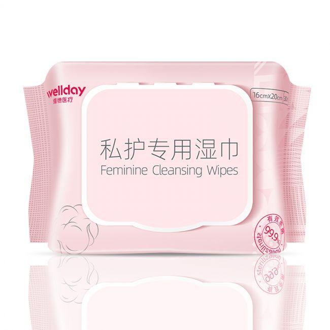 【惠战双11耗材九折   原价:3.5  低价:3.3】维德女性私护湿巾 30片/包