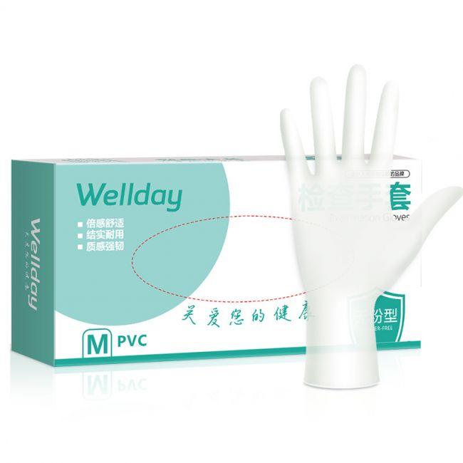 维德检查手套(PVC)M   100只/盒